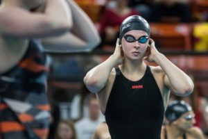 Sophie Hansson Sets ACC Record, Tied for 3rd All-Time, With 57.23 100 Breast