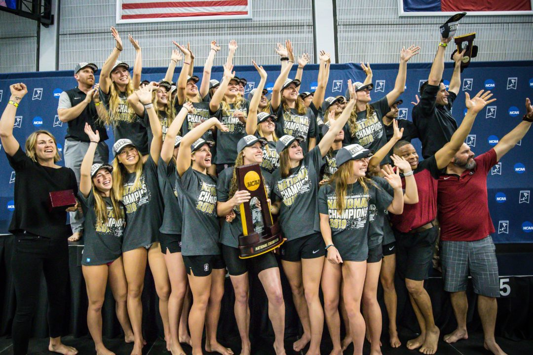 Defending NCAA Champs Stanford Release 2019-2020 Schedule – Feb 15 Cal Dual