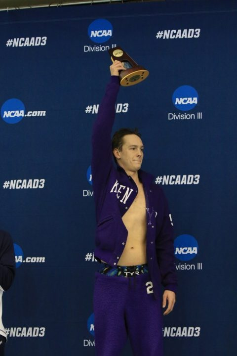 Kenyon Earns Their 300th NCAA Event Title in Men's Program History