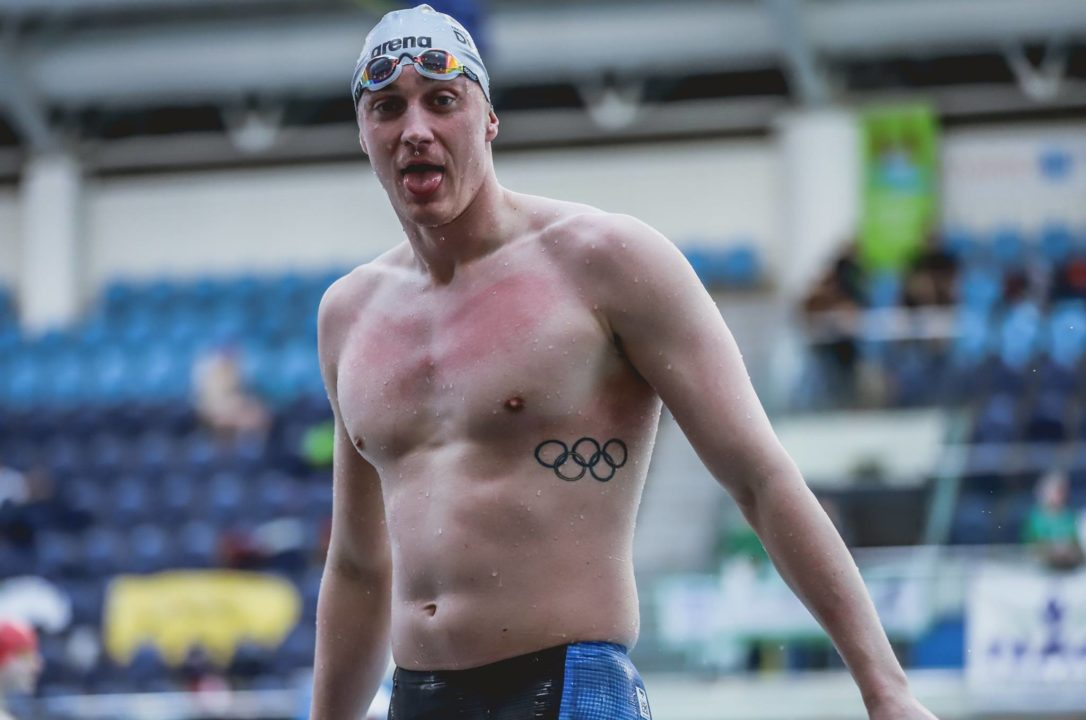 Shane Ryan Re-Breaks Irish Record in 100 Back for 2nd Time This Month