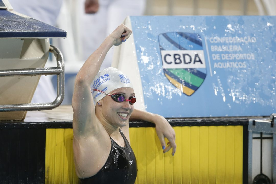 American Mallory Comerford Breaks Brazil Trophy Record in 100 Free