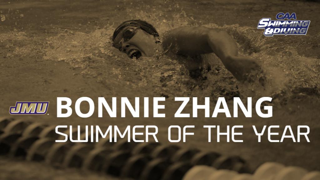 James Madison's Zhang Headlines CAA Women's Swimming & Diving Awards
