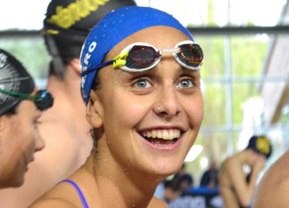 Martina Carraro Bronzo 100 Rana-RI-Prima Donna Medaglia Mondiale Nella Rana