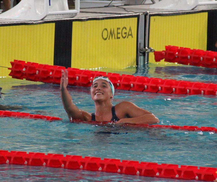 Delfina Pignatiello, la primera nadadora argentina clasificada a Tokio 2020