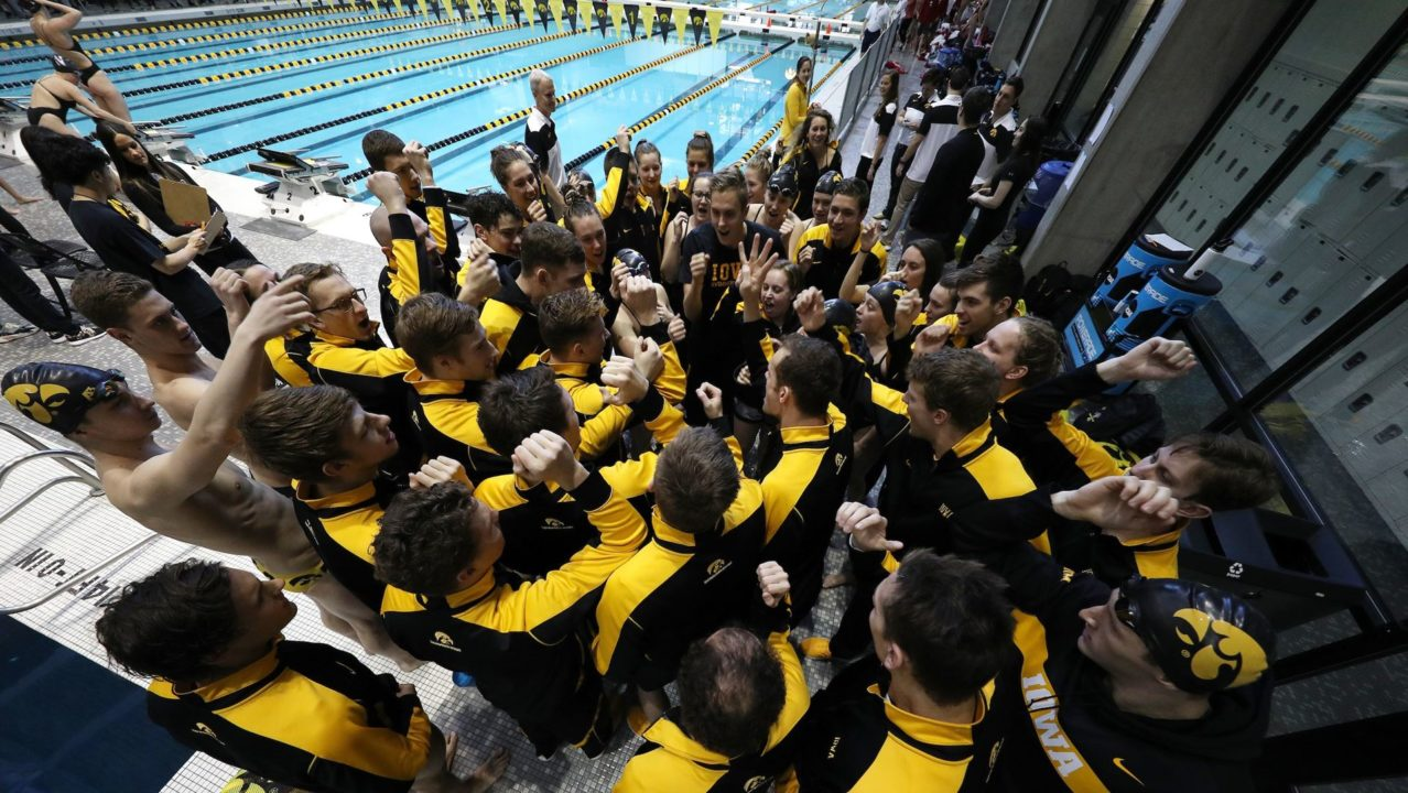 Iowa's Sergey Kuznetsov Swims 21.40 Flat Start 50 Fly in Sprint Meet with WIU