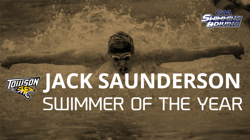 Towson's Saunderson Tabbed as CAA Men's Swimmer of the Year