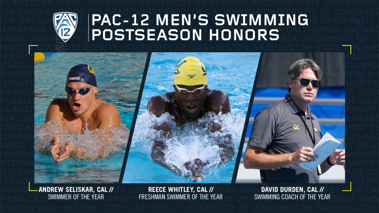 Cal, Stanford Earn Pac-12 Men's Swimming, Diving Awards