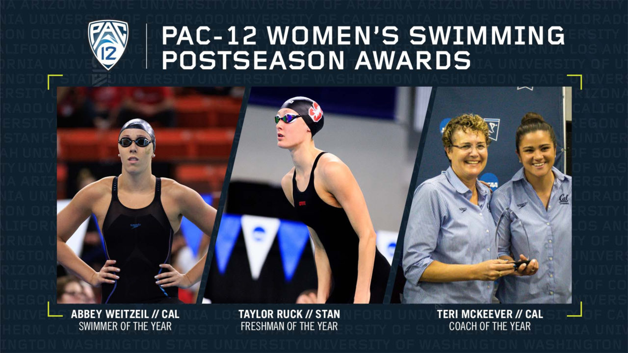 Pac-12 Names Women's Swimming & Diving Postseason Award Winners