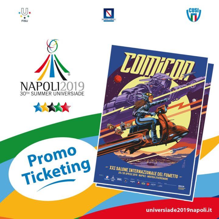Universiade Napoli 2019 Al Comicon Con Biglietti E Gadget Omaggio