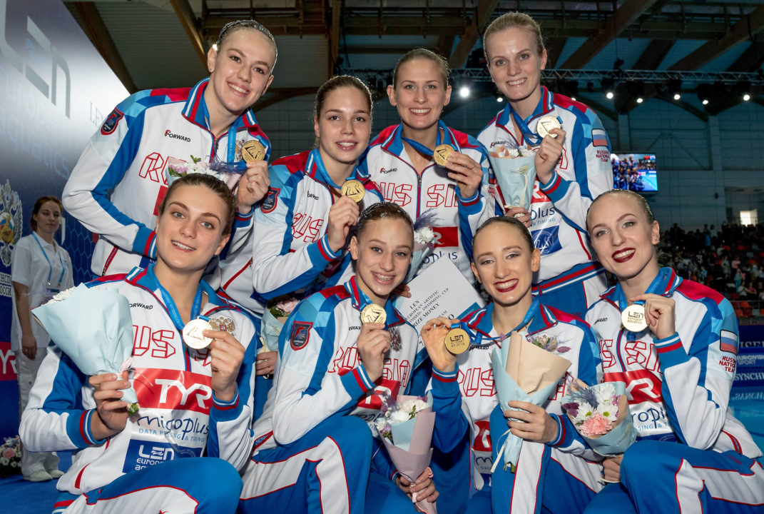 Russia Earns 2 Olympic Berths, Ukraine 1 on Day 3 of Synchro Champions Cup