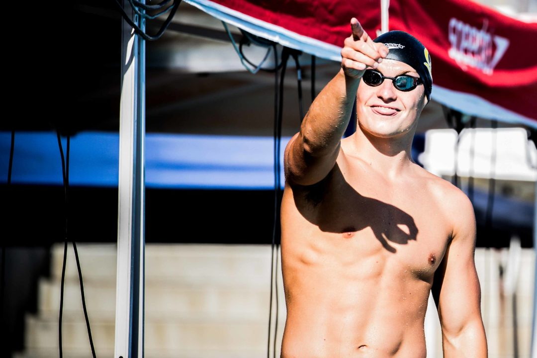 Andrew Seliskar Swims Lifetime Best in 100 Fly at Cal-Stanford Long Course Dual