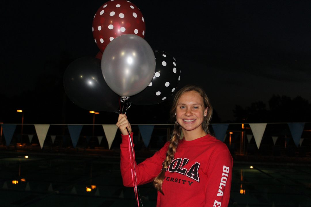 Flyer/Backstroker Anna Cohee Delivers Verbal To Biola University