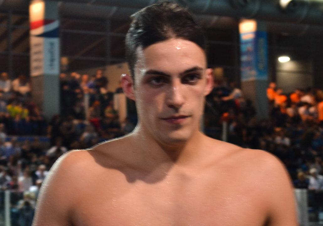 Filippo Megli Lowers Italian Record in 200 Free For Second Straight Day