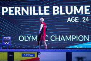 La campeona olímpica Pernille Blume sufre una lesión leve en la muñeca