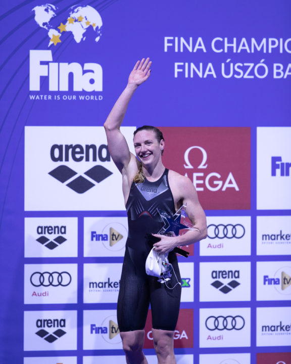 Hosszu & Cusinato Share 400 IM Podium On Day 2 Of FINA World Cup Berlin