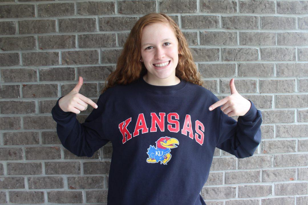 Carmel Backstroker Taylor Conley Sends Verbal Commitment to Kansas