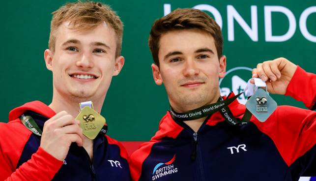 Laugher, Goodfellow Strike Diving World Series Gold, Silver in London