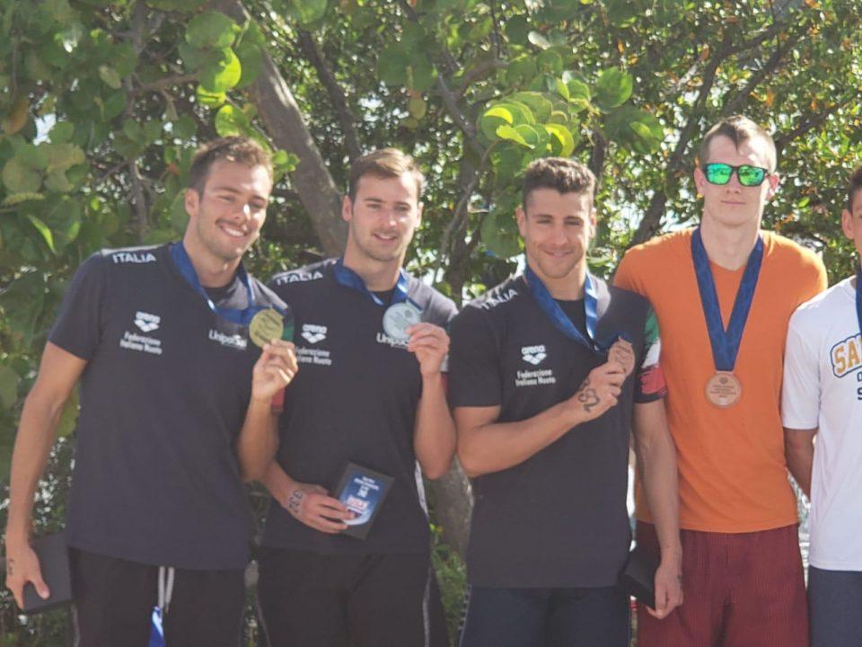Paltrinieri-Acerenza-Sanzullo-Podio Tricolore Alla 5 Km Degli USA Open