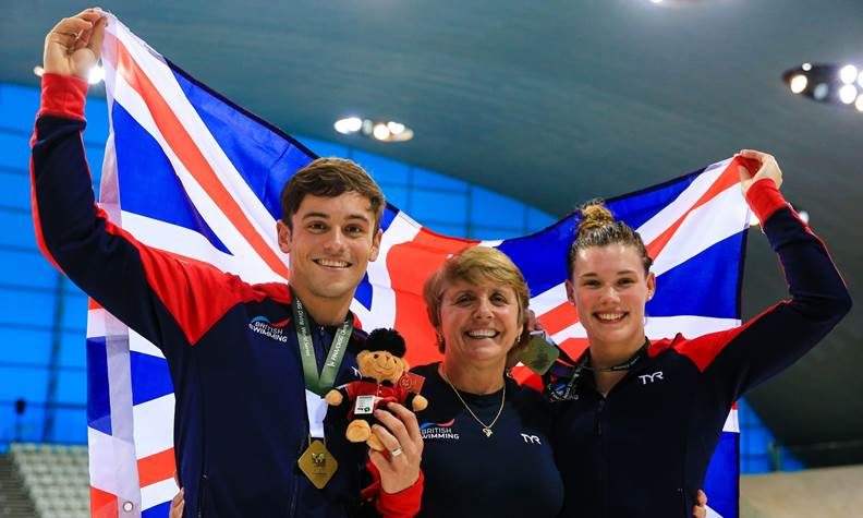 Daley, Reid Win Mixed 3M Synchro Gold at Diving World Series London Stop