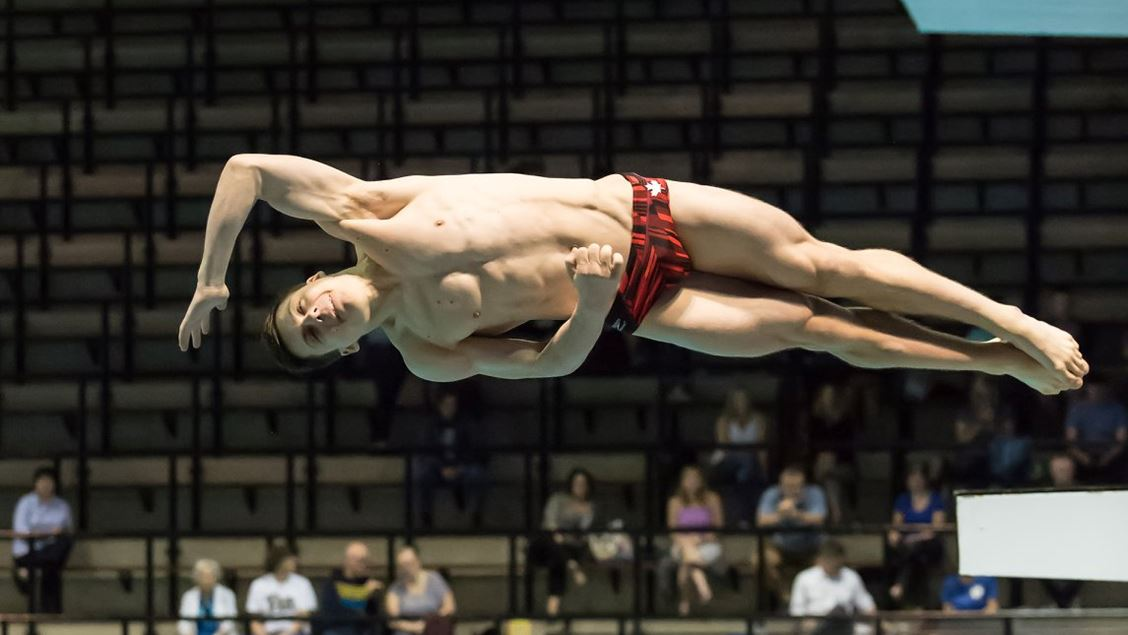 Texas A&M Commit Victor Povzner Wins 1-Meter Title at Canadian Diving Nationals