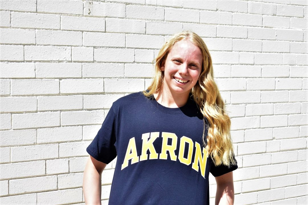 Indiana LSC State Champ Rachel Sabotin Verbally Commits to Akron