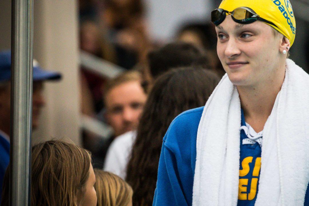 "Annie Lazor Was Nervous for Pro Swim After ""Pretty Ugly"" IU Lactate Set (Video)"
