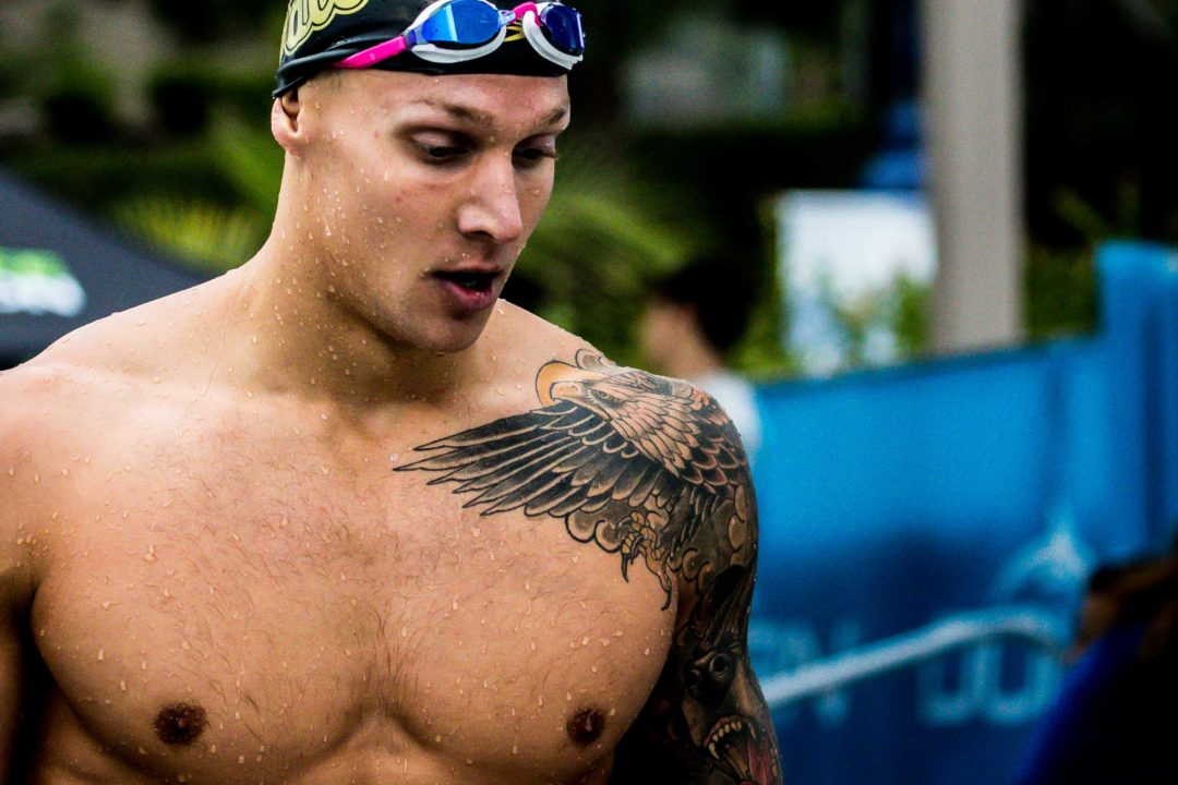 Dressel Posts 21.5 50 Free in Day 2 Finals (Race Video)