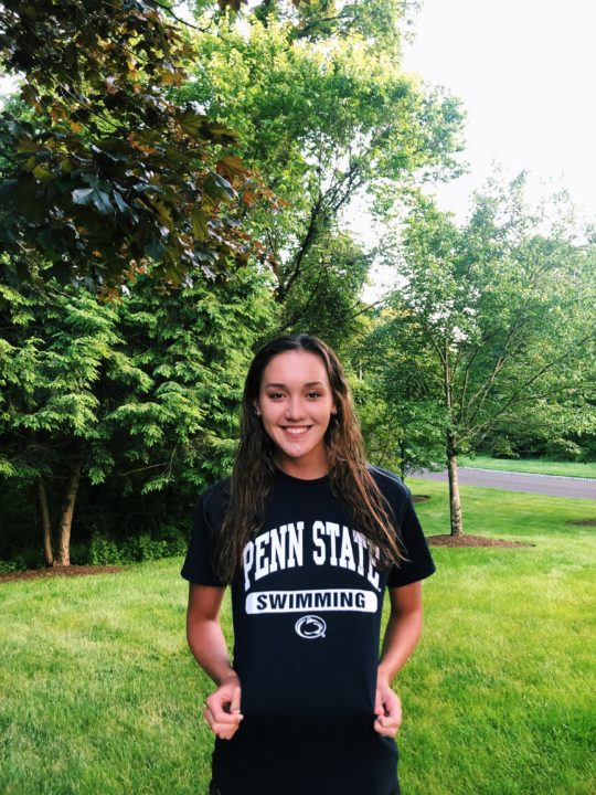 Backstroker Ellie Brandbergh Has Chosen To Swim For In State Penn State In 2020