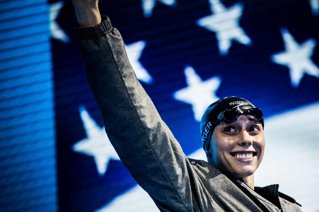Hali Flickinger Scratches 800 Free at Pro Swim Series – Knoxville