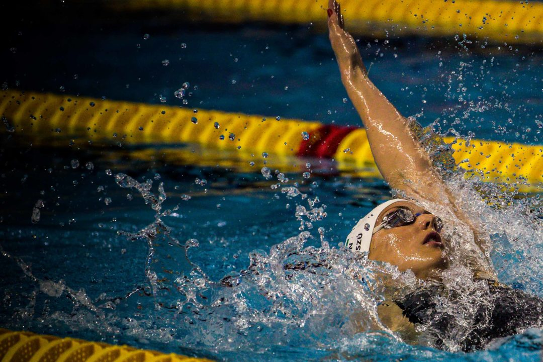 Hosszu Clocks 200 IM Meet Record At Mare Nostrum Prelims In Barcelona