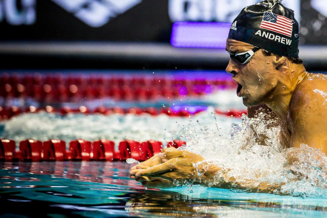 WATCH: Michael Andrew Analyzes 100 Breast Best Time From Des Moines