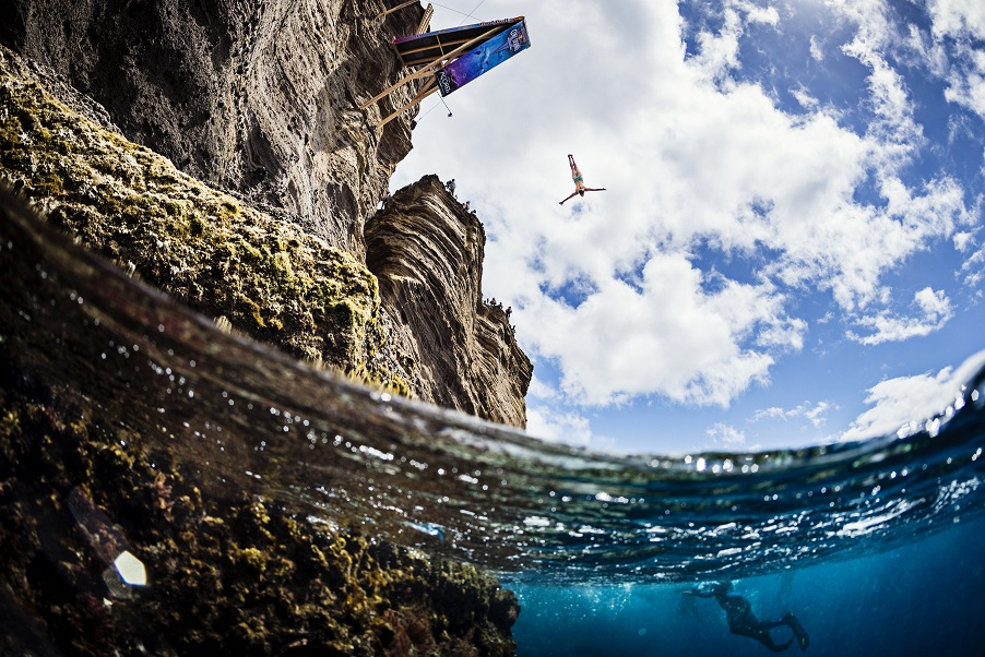 Red Bull Cliff Diving World Series Stops in the Portuguese Azores on Saturday