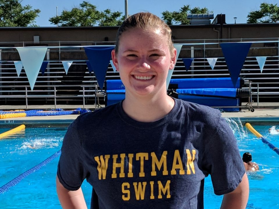 Breaststroke Specialist Natalie Ritter Commits to D3 Whitman College