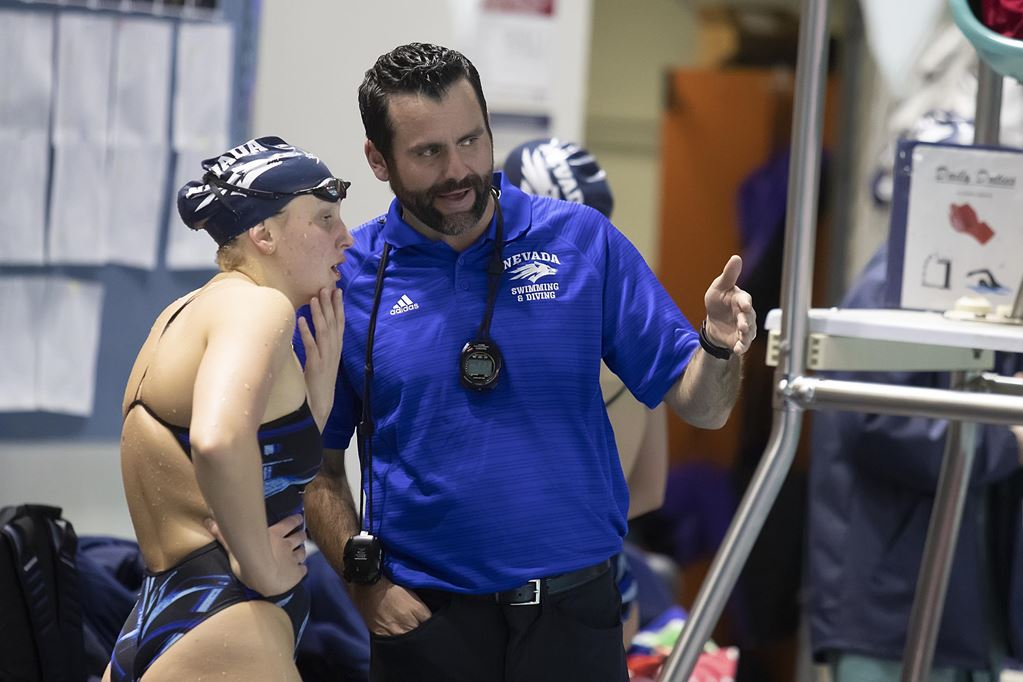 Nevada Takes 13 of 14 Events In Dual Meet Win Over Washington State