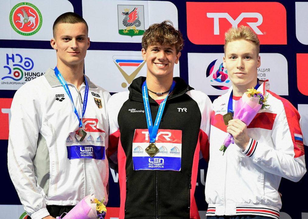 Junioren-EM: Luca Armbruster gewinnt Bronze über 100 m Schmetterling