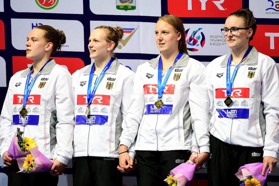 Junioren-EM: Vogelmann, Goerigk, 4x200m Freistilstaffel mit Medaillenchancen