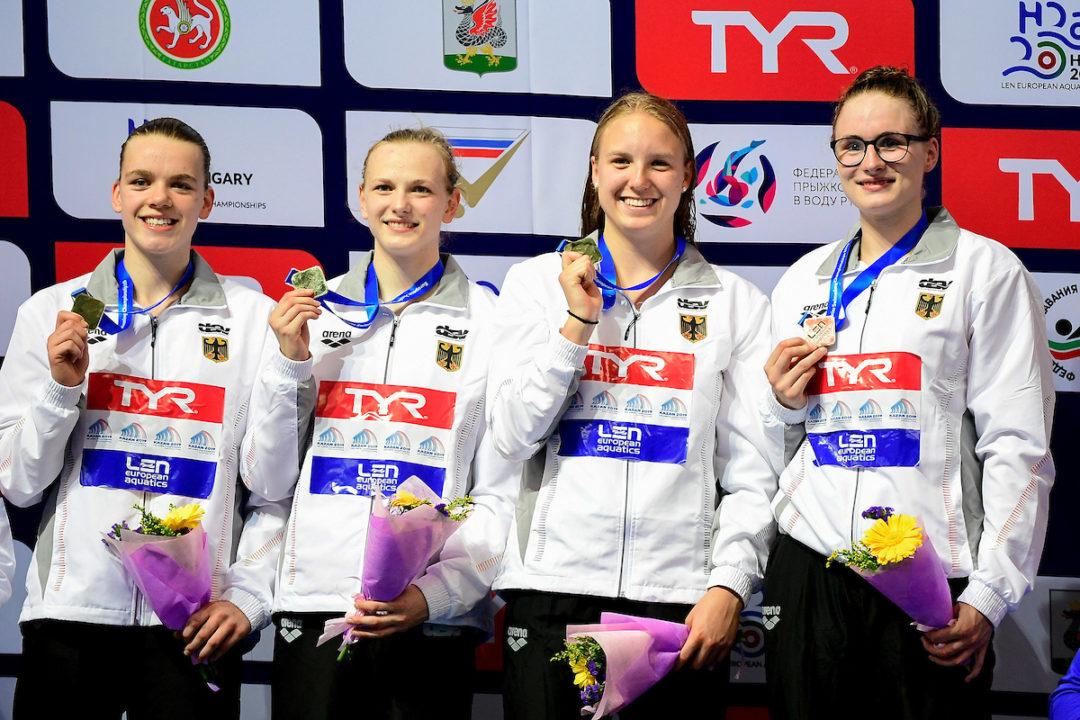 Junioren-EM: Bronze für 4x200m Freistilstaffel der Frauen