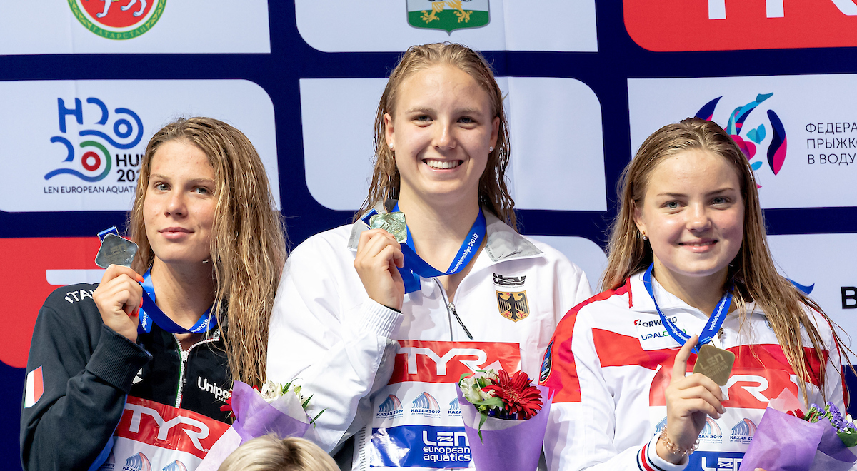 Junioren-Europameisterschaften: Fotoalbum mit den deutschen Goldschwimmern