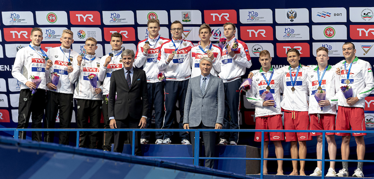 Junioren-EM: 4×200 m Freistilstaffel der Männer gewinnt Silber