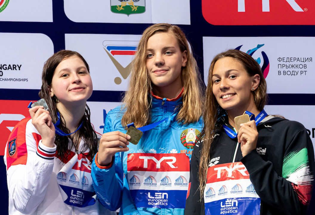 Anastasiya Shkurdai Sets European Junior and Belarusian 50 Fly (SCM) Records