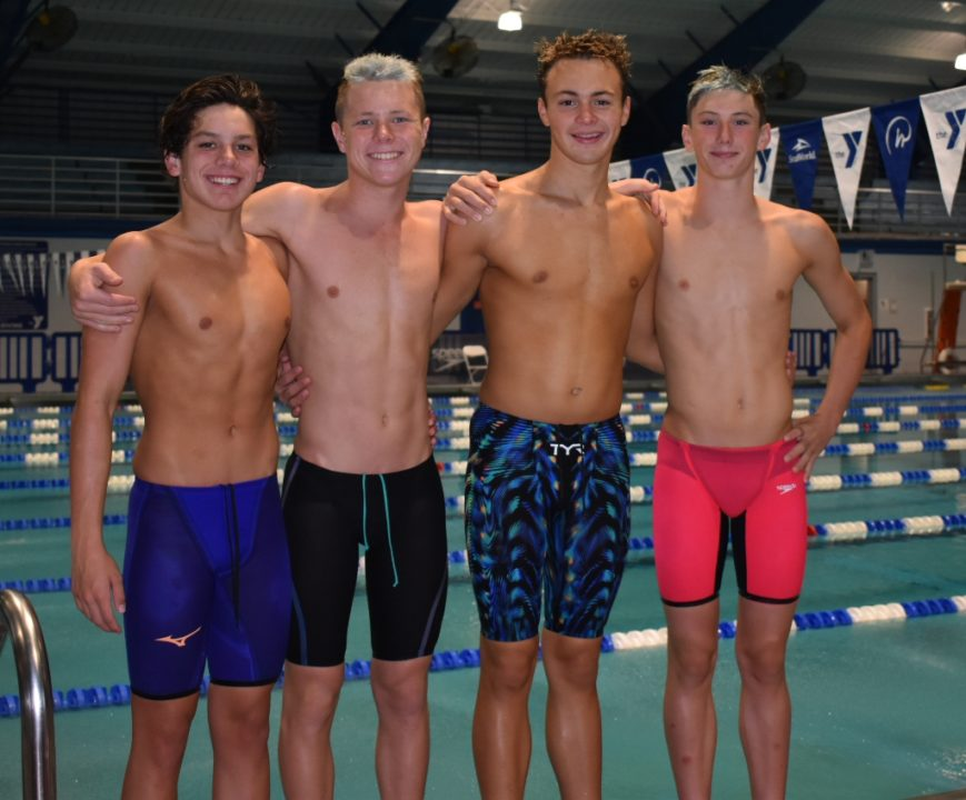 Sarasota Tsunami 13-14 Boys Swipe Second NAG Relay Record of the Weekend