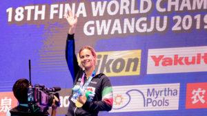 Federica Pellegrini Ultima Gara Mondiale, Conduce La Staff 4x100Mx Al Record