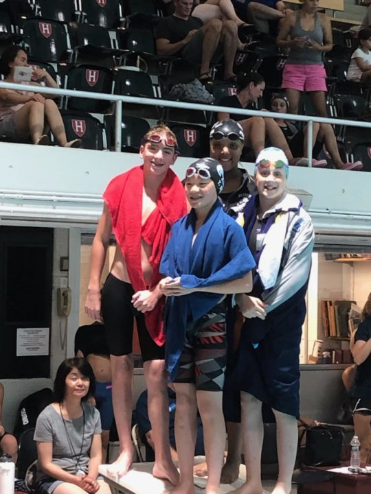 Bluefish Swim Club Breaks Another 11-12 Mixed Relay NAG