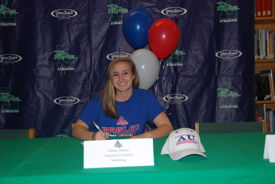 Marlins of Raleigh Senior Ashlyn Walton Commits to American University