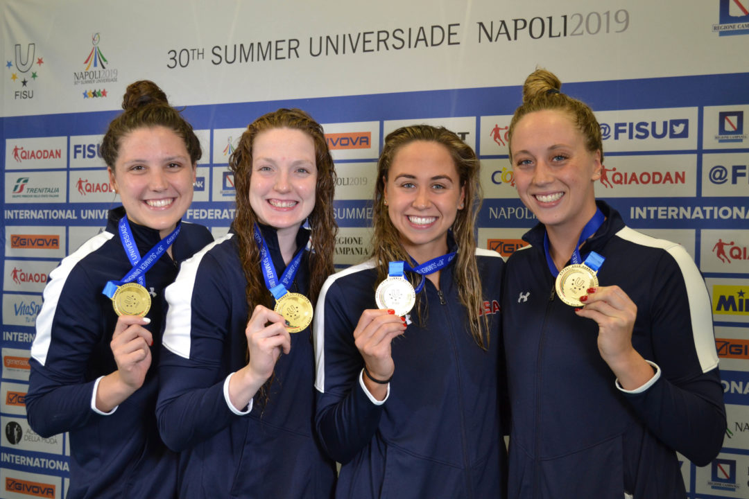 USA Leads Medals Table on Day 1 at 2019 World University Games