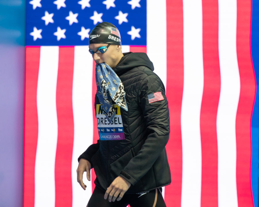 Caeleb Dressel Sets New American Record at 46.96 in Men's 100 Freestyle