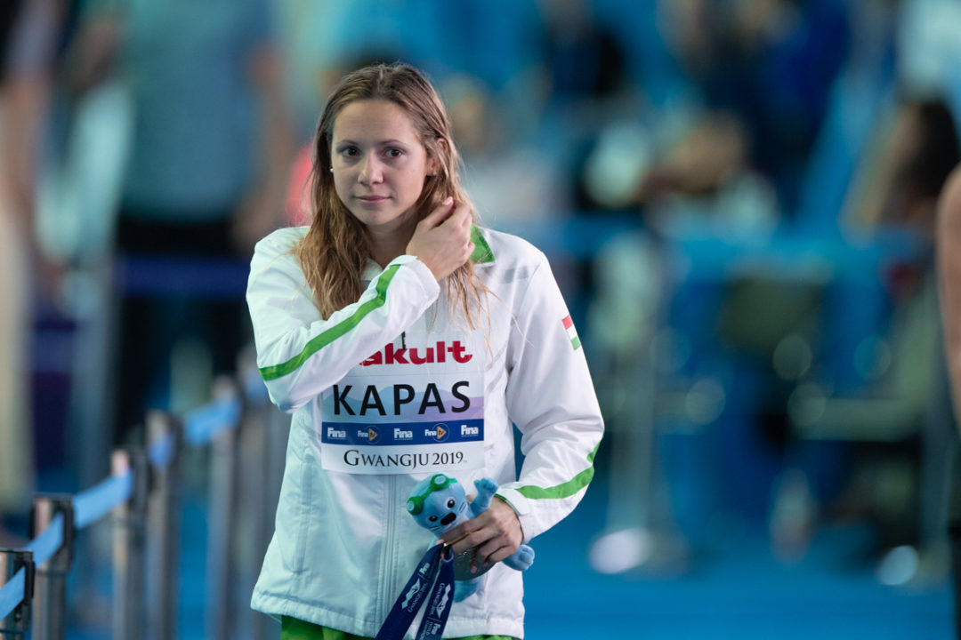 Swimming World Champion Boglarka Kapas Tests Positive For Coronavirus
