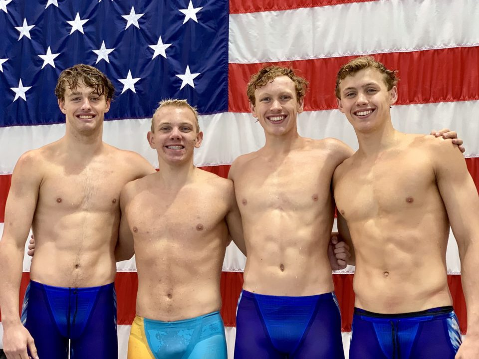 Mason Manta Rays Break Another 15-18 National Age Group Relay Record