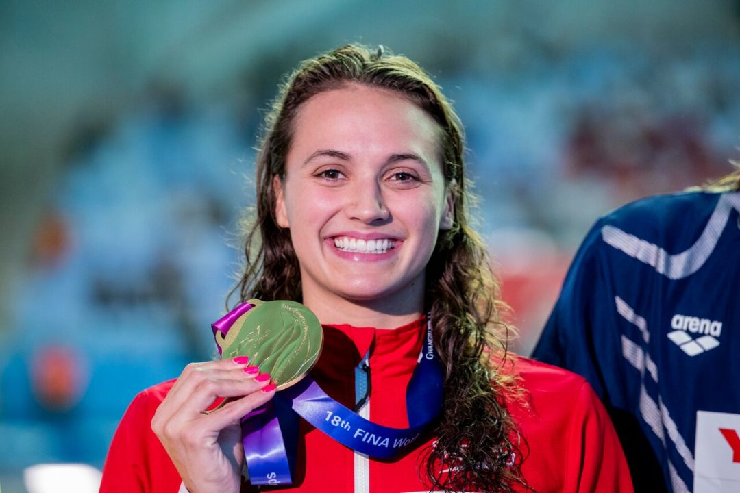 Kylie Masse Becomes First Woman To Repeat In 100 Back Since 1975
