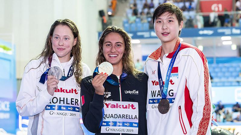 Schwimm-WM: Sarah Köhler im Finale über 800 m Freistil